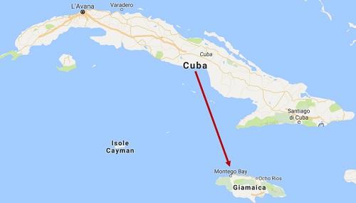 distanza Cuba Jamaica