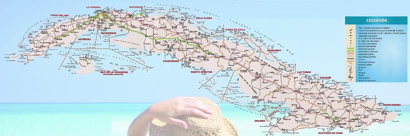 Cartina Di Malta Pdf.Mappa Di Cuba Spiagge Luoghi E Distanze Dell Isola Caraibica